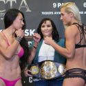 INVICTA FC 25 Official Weigh-in: Raquel Pa'aluhi (133.8 lb) vs. Yana Kunitskaya (134.5 lb)