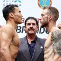 """Pesaje oficial cartelera """"Qzaq Pride Championship Boxing"""""""