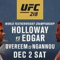 UFC 218: Holloway Defends Title Against Edgar In The Motor City