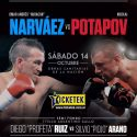 Omar Narváez vs. Nikolai Potapov, eliminatoria mundial gallo OMB este sábado en Estadio Obras. TyC Sports 23 h