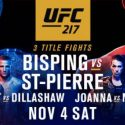 UFC 217: Bisping vs GSP Undercard Results