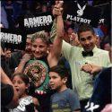 Barby Juárez retuvo corona gallo del WBC