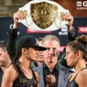 Glory 48 Official Weigh-in: Tiffany van Soest (120.2 lb / 54.5 kg) vs. Anissa Meksen (120.6 lb / 54.7 kg)