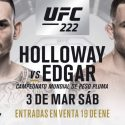 Max Holloway vs Frankie Edgar oficial para UFC 222