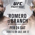 UFC returns to Orlando February 24TH with Yoel Romero vs David Branch in the main event