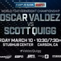 TODAY! Valdez vs. Quigg World Title Fight Tickets Go On Sale