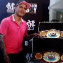 OMB entrega faja de diamantes a Miguel Cotto por sus tres títulos