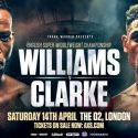 Williams vs Clarke english title clash confirmed for the 02