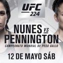 Amanda Nunes vs Raquel Pennington en UFC 224