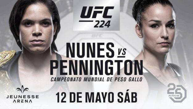 Amanda Nunes vs Raquel Pennington en #UFC224