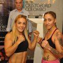 Tuti Bopp y Soledad Frias en peso por el minimosca AMB este viernes en Avellaneda