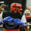 VÍDEO: Floyd Mayweather se faja en sesión de sparring y también recibe castigo