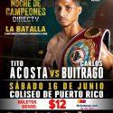 'Tito' Acosta, para el 16 de junio la defensa del título mundial mosca ante el nicaragüense Carlos Buitrago