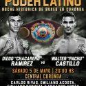 Diego Ramírez vs. Walter Castillo y Pucheta vs. Lingua este sábado en Coronda. TyC Sports 23 h