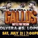 """Alfonso Olvera vs. Wilberth Lopez Headline """"Guerra De Gallos"""""""