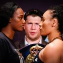 Official Weigh-in: Claressa Shields – 159 ½ lbs.  vs. Hanna Gabriels – 159 ½ lbs.
