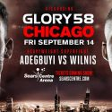 GLORY 58 Chicago Scheduled for New Date: Friday, Sept. 14