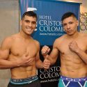 Gustavo Lemos y Miguel Acosta en peso por el latino ligero FIB, hoy en estadio FAB