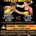 Tigresa Acuña vs. Laura Griffa por mundial supergallo FIB, este viernes en Catamarca. TyC Sports 23:30