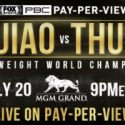It's Official: Manny Pacquiao meets Keith Thurman in welterweight world championship clash live on Pay-Per-View – Saturday, July 20